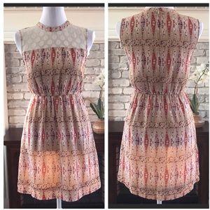 Tulle Mini Dress sleeveless multicolor size XS
